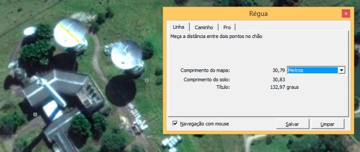 Medição Google Earth Antenas Embratel