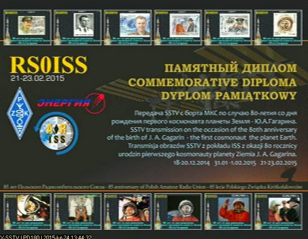 Diploma ARISS - SSTV ISS